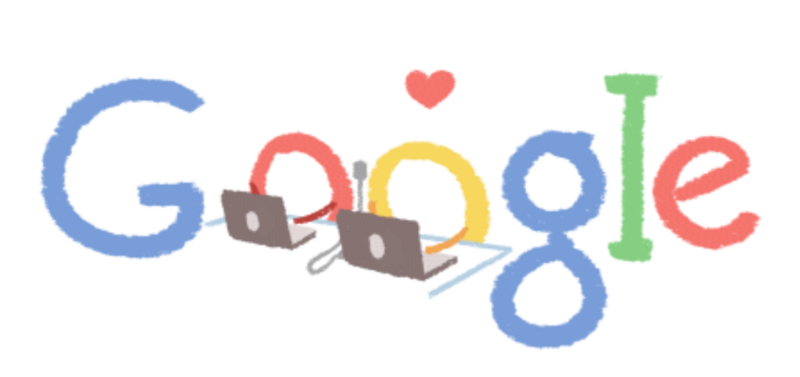 Google Valentine Day logo 2015