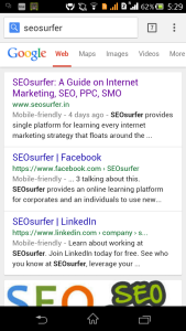 Mobile friendly tag on SEOsurfer.in