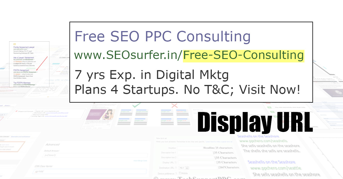 Google Adword Display URL