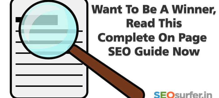 Complete On Page SEO guide now